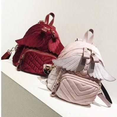 Velvet Angel Wings Backpacks School..