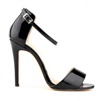 Ankle Straps Patent Leather High He..