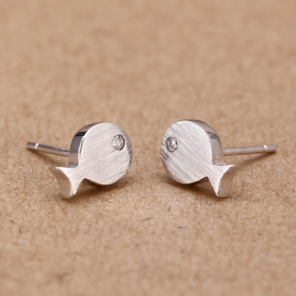 S925 silver fish earrings earrings