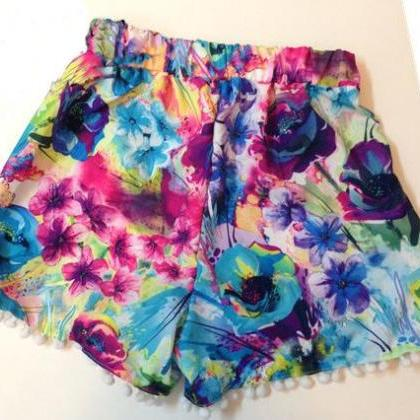 Floral Leisure Shorts Beach Pants