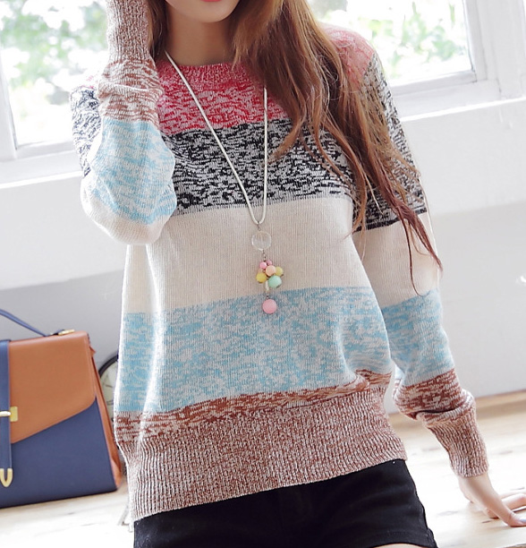 Striped Pullover Knitted