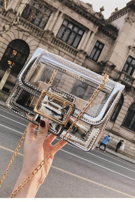 Chic Transparent Jelly bag Shoulder Bag