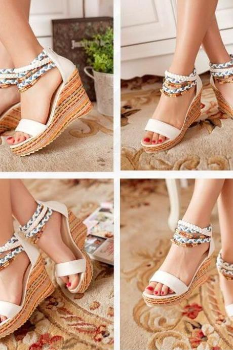 Beautiful Bohemia Platform Wedges Sandals