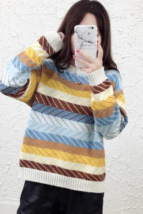 Bow Retro Loose Cardigan Sweater