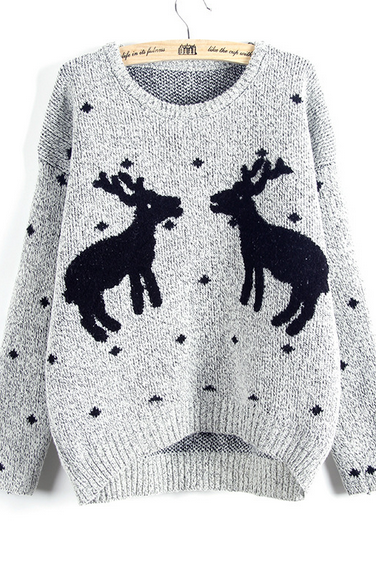 Lovely fawn loose sweaters