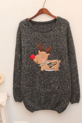 Reindeer knitted sweater - 4 color