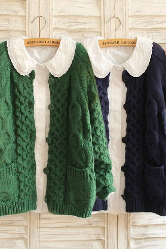 Pocket knit sweater - 4 color
