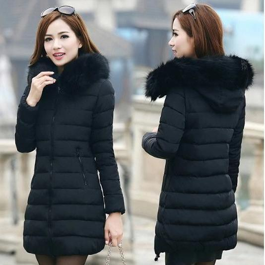 Winter Faux Fur Collar Warm Coat