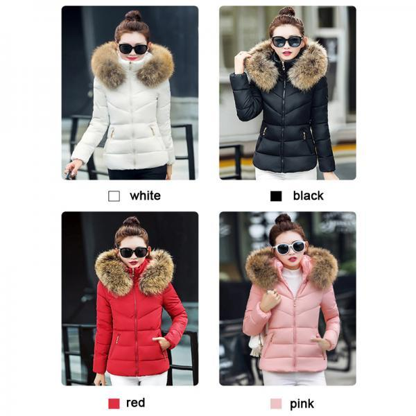 Women's Faux Fur Cotton Padded Warm Winter Coat