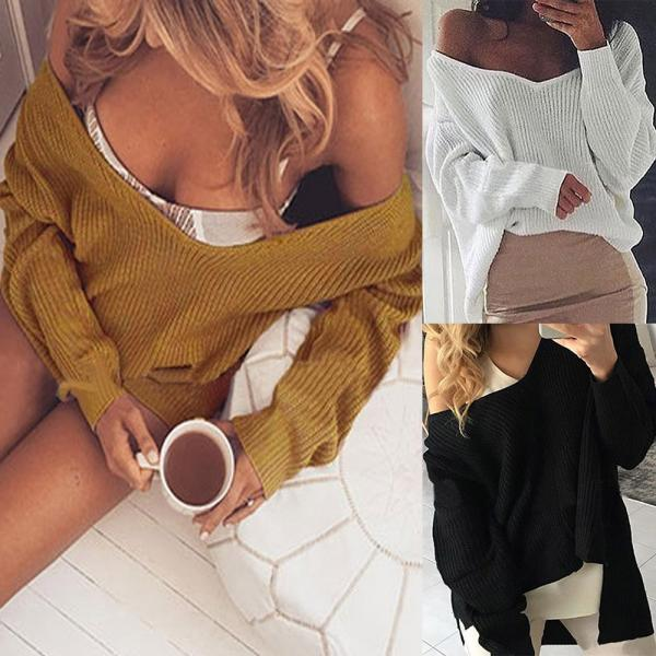 Autumn and Winter Women Casual Pullover Sweater