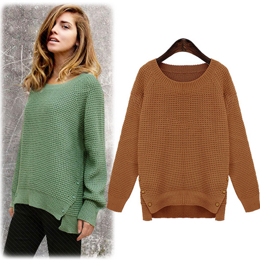 The new loose pullovers women's color sweater