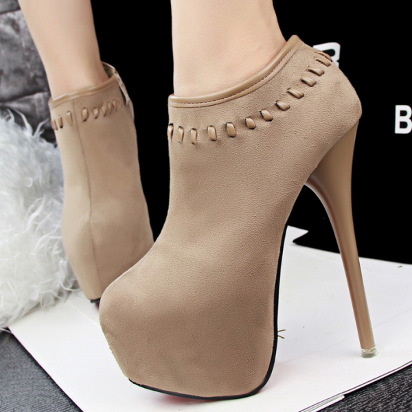 Fashion Show Thin High Heeled Waterproof Suede Sexy Boots
