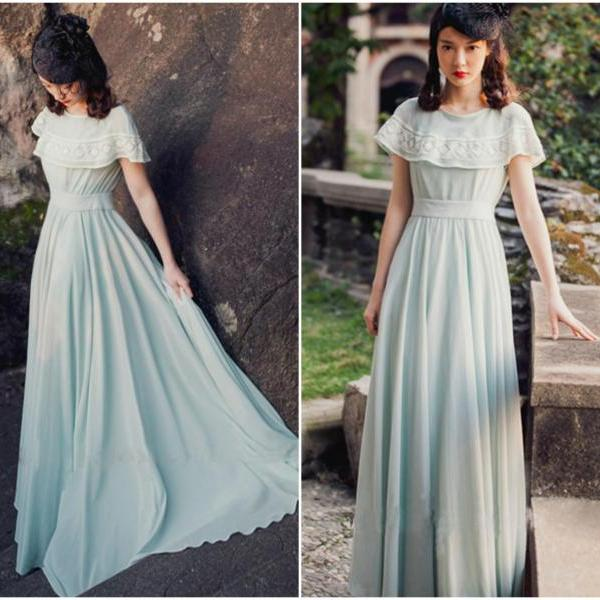 Elegant Vintage Inspired Long Dress