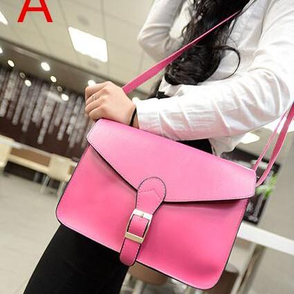 2015 the European and American fashion handbags retro 6 color PU single shoulder his female package