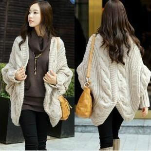 Bat Coat Shawls Long Cardigan Sweater