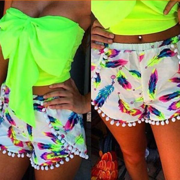 FASHION PRINTED BEACH SHORTS